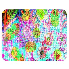 Bright Rainbow Background Double Sided Flano Blanket (Medium)