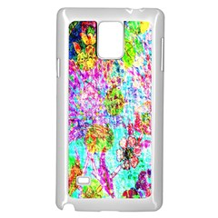 Bright Rainbow Background Samsung Galaxy Note 4 Case (White)