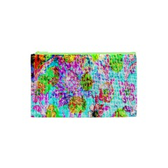 Bright Rainbow Background Cosmetic Bag (XS)
