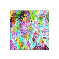 Bright Rainbow Background Satin Bandana Scarf