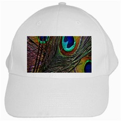 Peacock Feathers White Cap