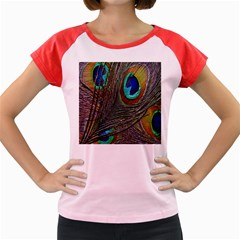 Peacock Feathers Women s Cap Sleeve T Shirt