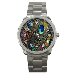 Peacock Feathers Sport Metal Watch