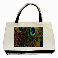 Peacock Feathers Basic Tote Bag (Two Sides)