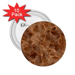 Brown Seamless Animal Fur Pattern 2 25  Buttons (10 Pack)