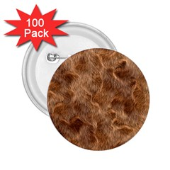 Brown Seamless Animal Fur Pattern 2 25  Buttons (100 Pack)