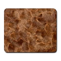 Brown Seamless Animal Fur Pattern Large Mousepads