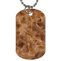 Brown Seamless Animal Fur Pattern Dog Tag (two Sides)