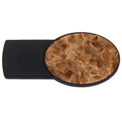 Brown Seamless Animal Fur Pattern USB Flash Drive Oval (1 GB)