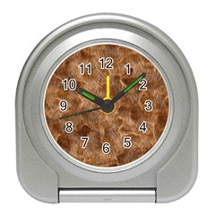 Brown Seamless Animal Fur Pattern Travel Alarm Clocks
