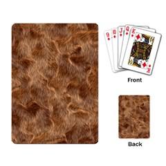 Brown Seamless Animal Fur Pattern Playing Card