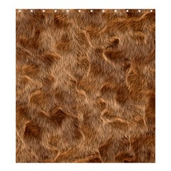Brown Seamless Animal Fur Pattern Shower Curtain 66  X 72  (large)