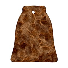 Brown Seamless Animal Fur Pattern Ornament (Bell)