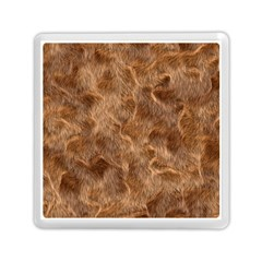 Brown Seamless Animal Fur Pattern Memory Card Reader (square)