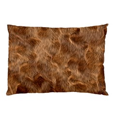Brown Seamless Animal Fur Pattern Pillow Case (Two Sides)