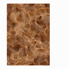 Brown Seamless Animal Fur Pattern Small Garden Flag (Two Sides)