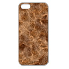 Brown Seamless Animal Fur Pattern Apple Seamless iPhone 5 Case (Clear)