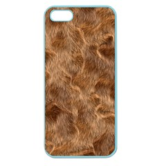 Brown Seamless Animal Fur Pattern Apple Seamless Iphone 5 Case (color)