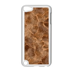 Brown Seamless Animal Fur Pattern Apple iPod Touch 5 Case (White)