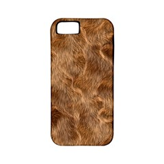 Brown Seamless Animal Fur Pattern Apple Iphone 5 Classic Hardshell Case (pc+silicone)