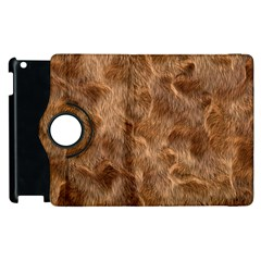 Brown Seamless Animal Fur Pattern Apple iPad 3/4 Flip 360 Case
