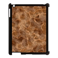 Brown Seamless Animal Fur Pattern Apple iPad 3/4 Case (Black)