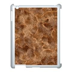 Brown Seamless Animal Fur Pattern Apple iPad 3/4 Case (White)