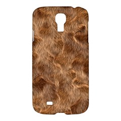 Brown Seamless Animal Fur Pattern Samsung Galaxy S4 I9500/I9505 Hardshell Case