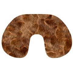 Brown Seamless Animal Fur Pattern Travel Neck Pillows
