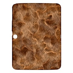 Brown Seamless Animal Fur Pattern Samsung Galaxy Tab 3 (10.1 ) P5200 Hardshell Case