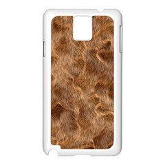 Brown Seamless Animal Fur Pattern Samsung Galaxy Note 3 N9005 Case (White)