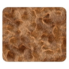 Brown Seamless Animal Fur Pattern Double Sided Flano Blanket (Small)