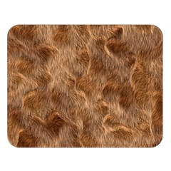 Brown Seamless Animal Fur Pattern Double Sided Flano Blanket (Large)
