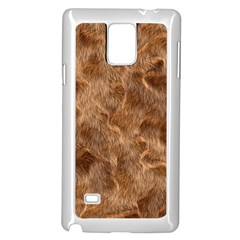 Brown Seamless Animal Fur Pattern Samsung Galaxy Note 4 Case (White)