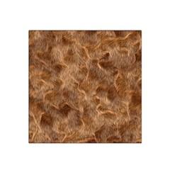 Brown Seamless Animal Fur Pattern Satin Bandana Scarf