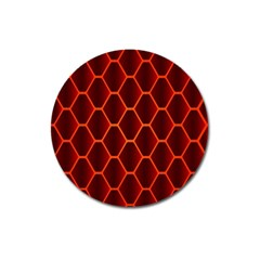 Snake Abstract Pattern Magnet 3  (Round)