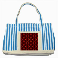 Snake Abstract Pattern Striped Blue Tote Bag