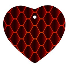 Snake Abstract Pattern Heart Ornament (two Sides)