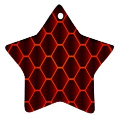 Snake Abstract Pattern Star Ornament (two Sides)