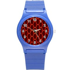 Snake Abstract Pattern Round Plastic Sport Watch (s)