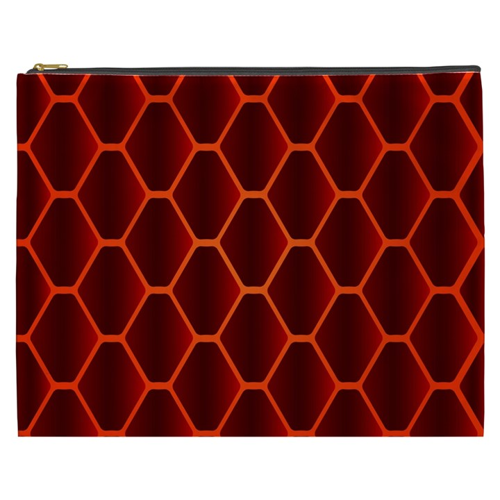 Snake Abstract Pattern Cosmetic Bag (XXXL)