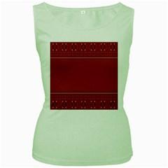 Heart Pattern Background In Dark Pink Women s Green Tank Top