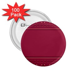 Heart Pattern Background In Dark Pink 2 25  Buttons (100 Pack)