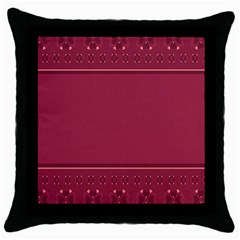 Heart Pattern Background In Dark Pink Throw Pillow Case (black)
