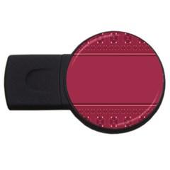 Heart Pattern Background In Dark Pink Usb Flash Drive Round (2 Gb)