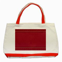 Heart Pattern Background In Dark Pink Classic Tote Bag (Red)