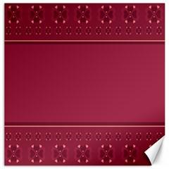 Heart Pattern Background In Dark Pink Canvas 12  X 12