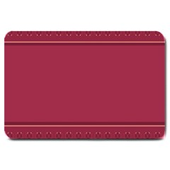 Heart Pattern Background In Dark Pink Large Doormat
