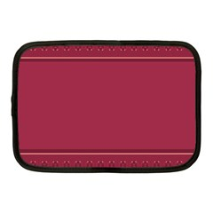 Heart Pattern Background In Dark Pink Netbook Case (medium)