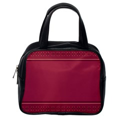 Heart Pattern Background In Dark Pink Classic Handbags (one Side)